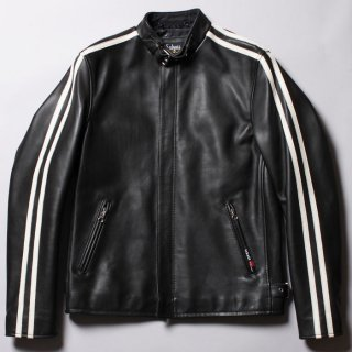 <img class='new_mark_img1' src='https://img.shop-pro.jp/img/new/icons47.gif' style='border:none;display:inline;margin:0px;padding:0px;width:auto;' />Schott CLASSIC RACER JACKET BLACK x WHITE