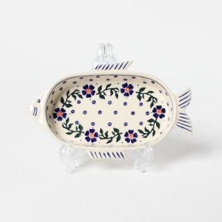 <img class='new_mark_img1' src='https://img.shop-pro.jp/img/new/icons14.gif' style='border:none;display:inline;margin:0px;padding:0px;width:auto;' />Polish Pottery Wiza Fish Dish