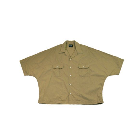 【H-SH023】Dolman opencolloar short sleeves shirt