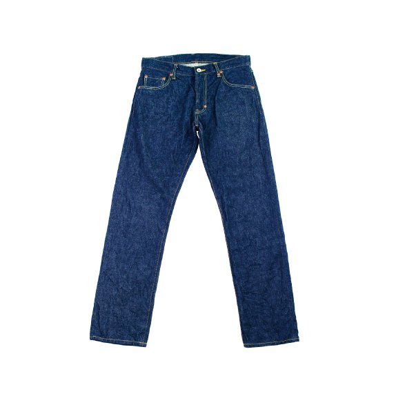 【H-PT022】Indigo denim tapered 5P
