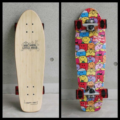 MR.MEN LITTLE MISS ミスターメン リトルミス 【お取り寄せ】HEAVEN SKATEBOARD Smiling Cruiser 28x8  MM