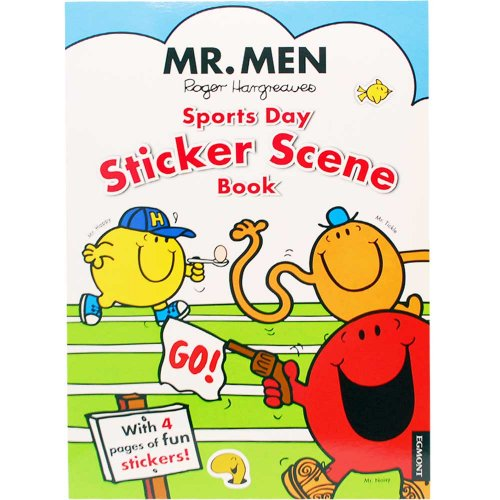 MR.MEN ★版元品切れ【英語のえほん】Mr.Men Sports Day Sticker Scene Book  MM}>