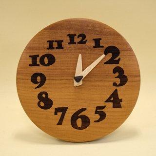 木の時計「nori nori」 ケヤキ(欅) クォーツ clock-no-01-keyaki