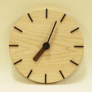 木の時計「deco(デコ)」 メープル クォーツ clock-dc-01