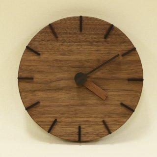 木の時計「deco(デコ)」 ウォールナット クォーツ clock-dc-13