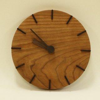 木の時計「deco(デコ)」 ブラックチェリー クォーツ clock-dc-25