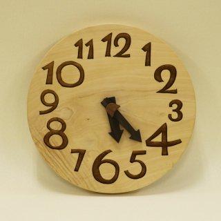 木の時計「nami(なみ)」 栃(とち) クォーツ clock-n-21
