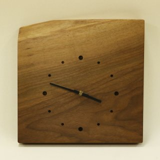 木の時計「天然木のとけい」 ウォールナット クォーツ clock-sw-02