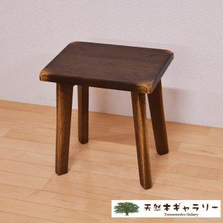 <span class='ic03'>送料無料</span>天然木 スツール(飾り台) レトロ オーク stool-r-319