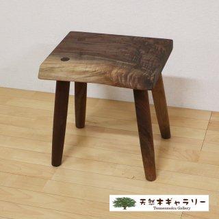 <span class='ic03'>送料無料</span>一枚板 スツール(飾り台) ブラックウォールナット stool-wal-w02