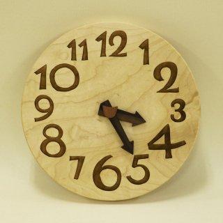 木の時計「nami(なみ)」 メープル クォーツ clock-n-19