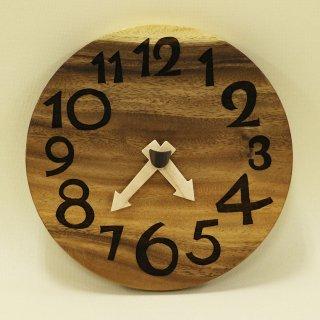 木の時計「nami(なみ)」 モンキーポッド クォーツ clock-n-53