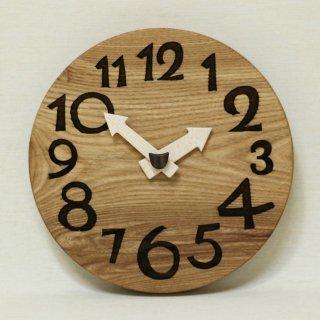 木の時計「conma(コンマ)」 楡(にれ) クォーツ clock-c-38