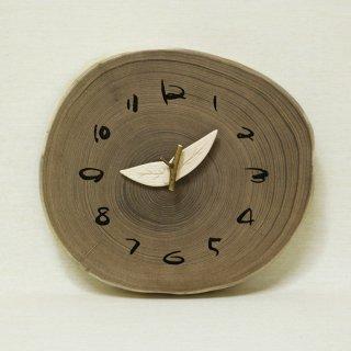 木の時計 『切り株時計』  エンジュ クォーツ clock-k-36