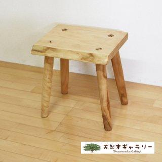<span class='ic03'>送料無料</span>一枚板 スツール(飾り台) 栃 stool-tochi-tc01