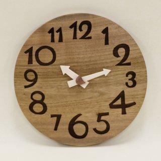 <span class='ic01'>NEW</span>木の時計「DECCA(デッカ)」 胡桃(くるみ)  クォーツ clock-d-44kurumi