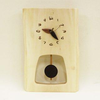 <span class='ic03'>送料無料</span>木の時計 『森の振り子時計』 L 栃 クォーツ clock-ml-108