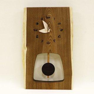 <span class='ic01'>NEW</span>木の時計 『森の振り子時計』 L エンジュ クォーツ clock-ml-009