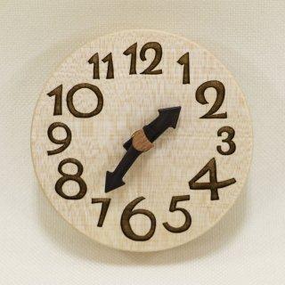 <span class='ic01'>NEW</span>木の時計『手のひらconma』 楓 (かえで)  クォーツ clock-tc-23