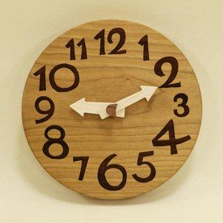 <span class='ic01'>NEW</span>木の時計「conma(コンマ)」 ブラックチェリー クォーツ clock-c-85-bc