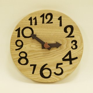 <span class='ic01'>NEW</span>木の時計「nami(なみ)」 栗(くり) クォーツ clock-n-09-kuri