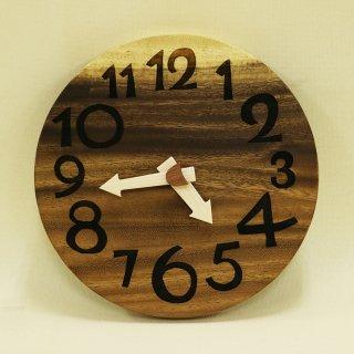 <span class='ic03'>送料無料</span>木の時計「nami(なみ)」 モンキーポッド クォーツ clock-n-02