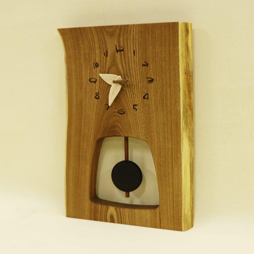 <img class='new_mark_img1' src='https://img.shop-pro.jp/img/new/icons1.gif' style='border:none;display:inline;margin:0px;padding:0px;width:auto;' />木の時計 『森の振り子時計』 L エンジュ クォーツ clock-ml-017
