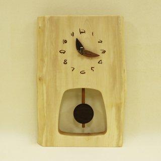 <span class='ic03'>送料無料</span>木の時計 『森の振り子時計』 M 栃 クォーツ clock-mm-332