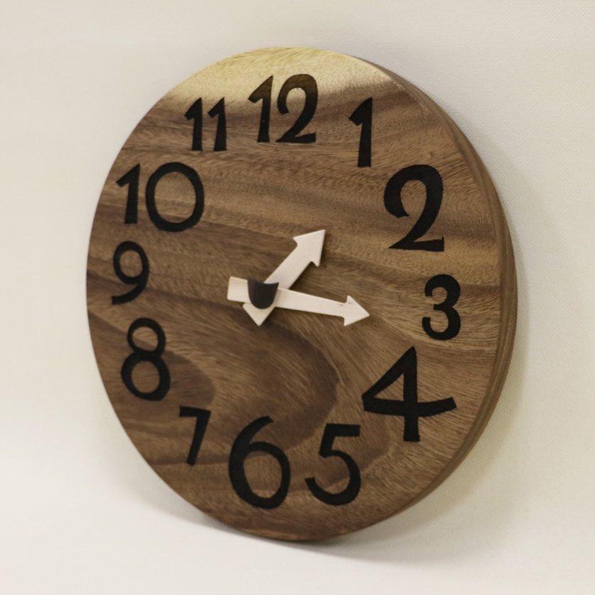 <img class='new_mark_img1' src='https://img.shop-pro.jp/img/new/icons3.gif' style='border:none;display:inline;margin:0px;padding:0px;width:auto;' />木の時計「DECCA(デッカ)」 モンキーポッド クォーツ clock-d-41-monki