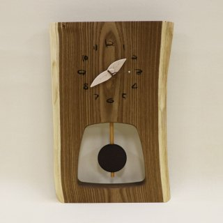 <span class='ic03'>送料無料</span>木の時計 『森の振り子時計』 L エンジュ クォーツ clock-ml-007 【売約済み!】