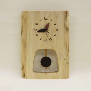 <span class='ic03'>送料無料</span>木の時計 『森の振り子時計』 L 栃 クォーツ clock-ml-111
