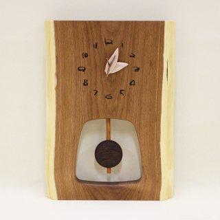 <span class='ic03'>送料無料</span>木の時計 『森の振り子時計』 M エンジュ クォーツ clock-mm-210