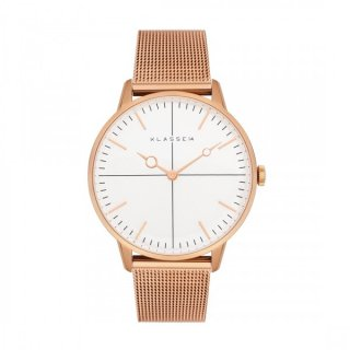MARIO NOBILE DISCO-VOLANTE DI16RG002W 36MM ROSE GOLD MESH