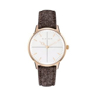 MARIO NOBILE Disco Volante RoseGold  Oak Flannel 36mm DI17RG003W
