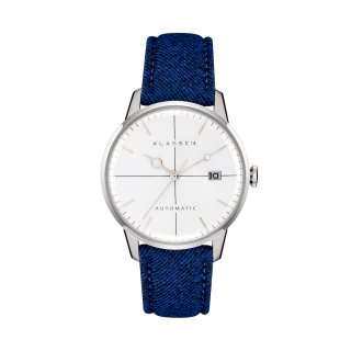MARIO NOBILE Disco Volante Silver  Royal Blue Flannel40mm DI17SR003M