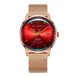 DISCO VOLANTE STARDUST Rose Gold with Mesh Strap 40mm Automatic