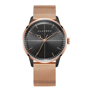 DISCO VOLANTE Rose Gold Black with Mesh Strap 40mm