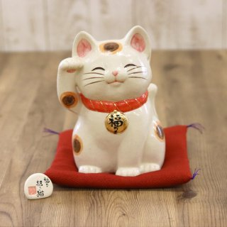 陶器の福々招き猫(特大 高さ21.5cm)