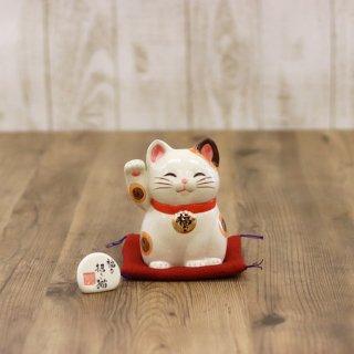 陶器の福々招き猫(中 高さ12cm)