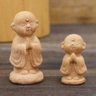 陶器の福地蔵さま (ピンク セット)