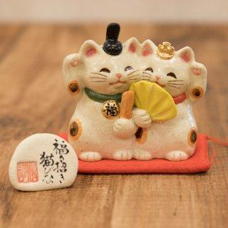 福々招き猫びな ペア