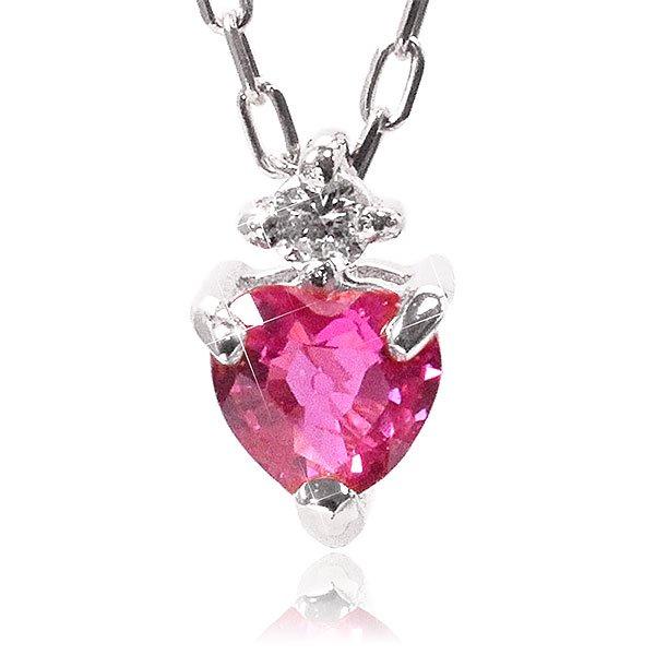 ルビー×ダイヤモンド ネックレス