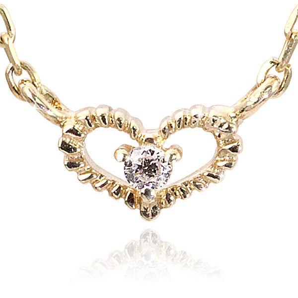 ダイヤモンド×オープンハートネックレス