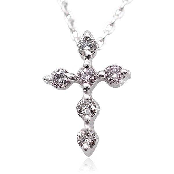 ピンクダイヤモンド×クロスネックレス