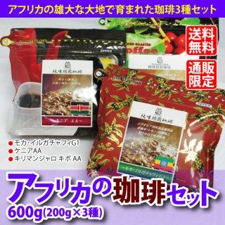 【送料無料】【通販限定】アフリカの珈琲セット600g(200g×3袋)
