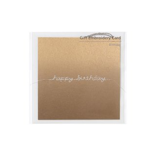 刺繍カード happy birthday ゴールド (GF-カHBGO)