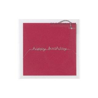 刺繍カード happy birthday ピンク (GF-カHBP)