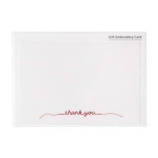 刺繍カード thank you レッド (GF-カR)