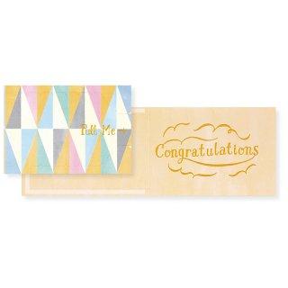 【2月末販売終了】プルミージッパーカード Congratulations (CP1C)