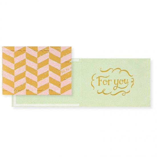 プルミージッパーカード For you 1